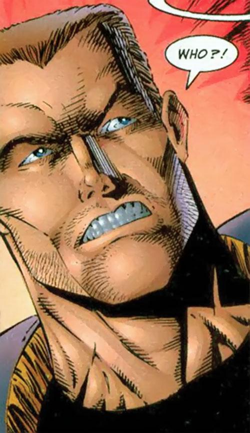 Boone of Brigade (Image Comics) tense face closeup