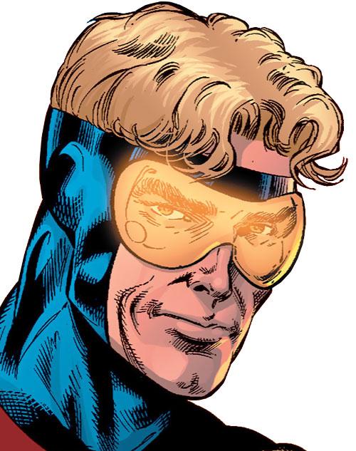 Booster Gold (DC Comics) face closeup