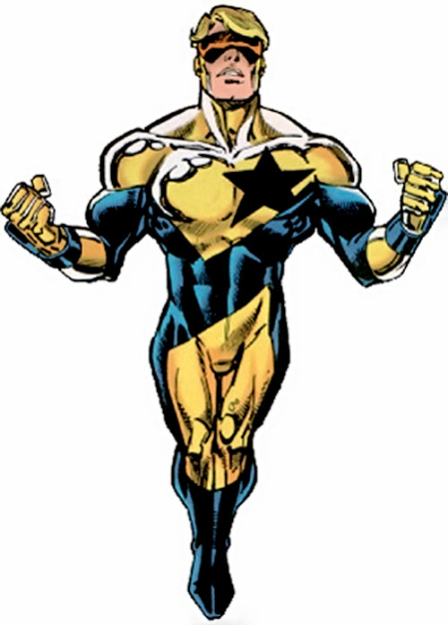 Booster Gold (DC Comics) flying in a later suit