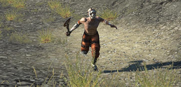 Borderlands - running psycho bandit with buzz axe