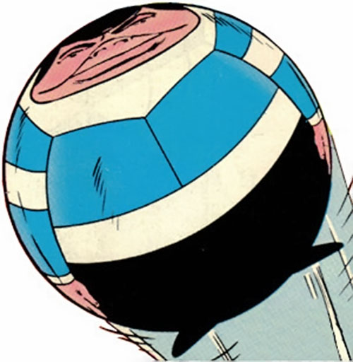 Bouncing Boy of the Legion of super-heroes (DC Comics) in inflated form