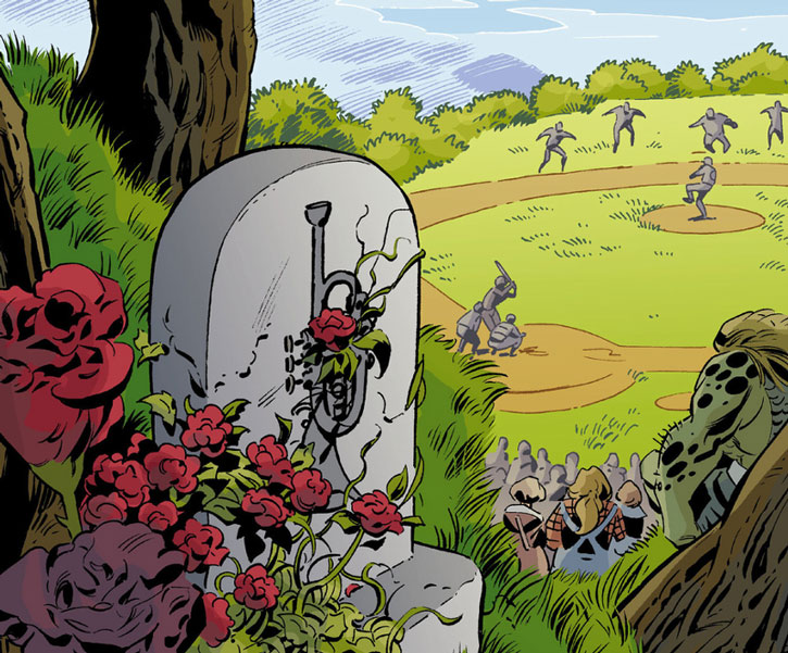 Boy Blue's grave in Fableland