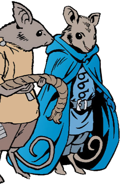 Boy Blue of the Fables (DC Comics) in humanoid mouse form