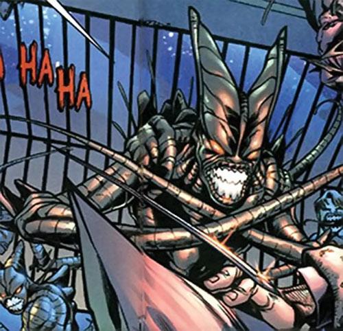 Brood aliens (X-Men enemies) (Marvel Comics) gray