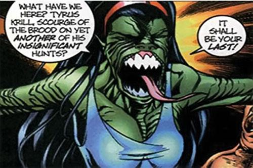 Brood aliens (X-Men enemies) (Marvel Comics) green hybrid