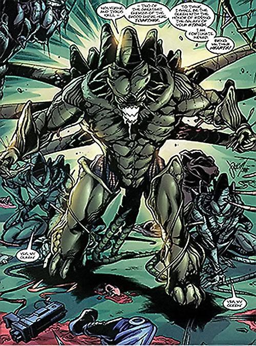 Brood aliens (X-Men enemies) (Marvel Comics) humanoid queen