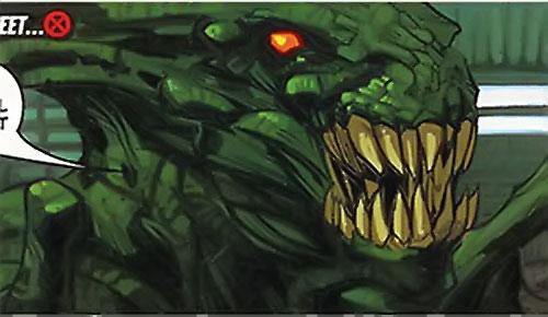 Brood aliens (X-Men enemies) (Marvel Comics) green
