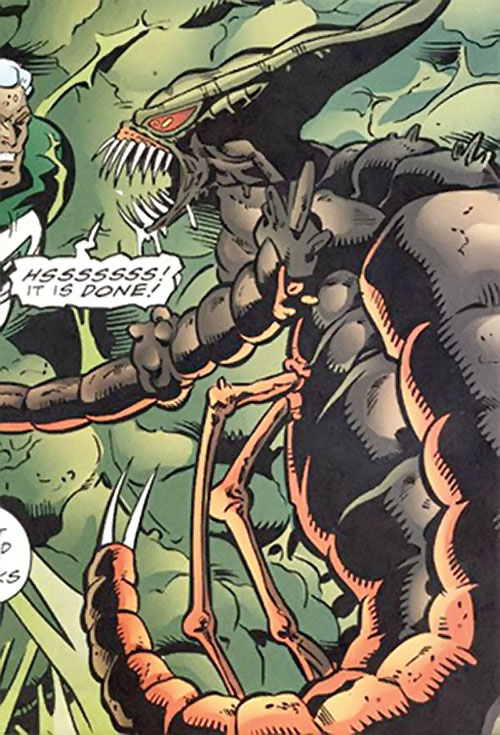 Brood aliens (X-Men enemies) (Marvel Comics) and Captain Marvel