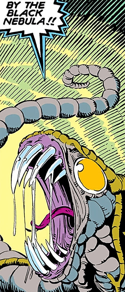 Brood aliens (X-Men enemies) (Marvel Comics) yelling closeup