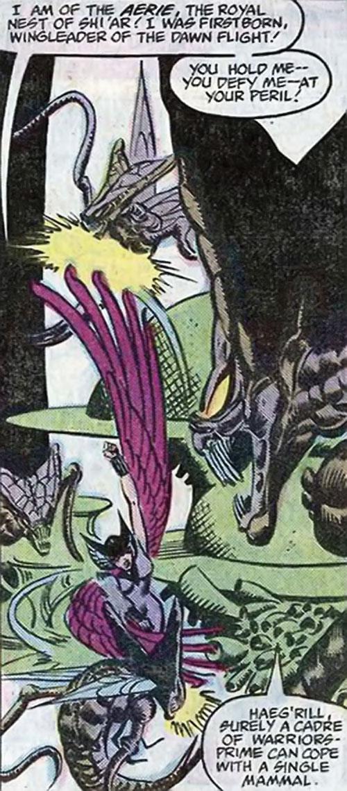 Brood aliens (X-Men enemies) (Marvel Comics) vs. Deathbird
