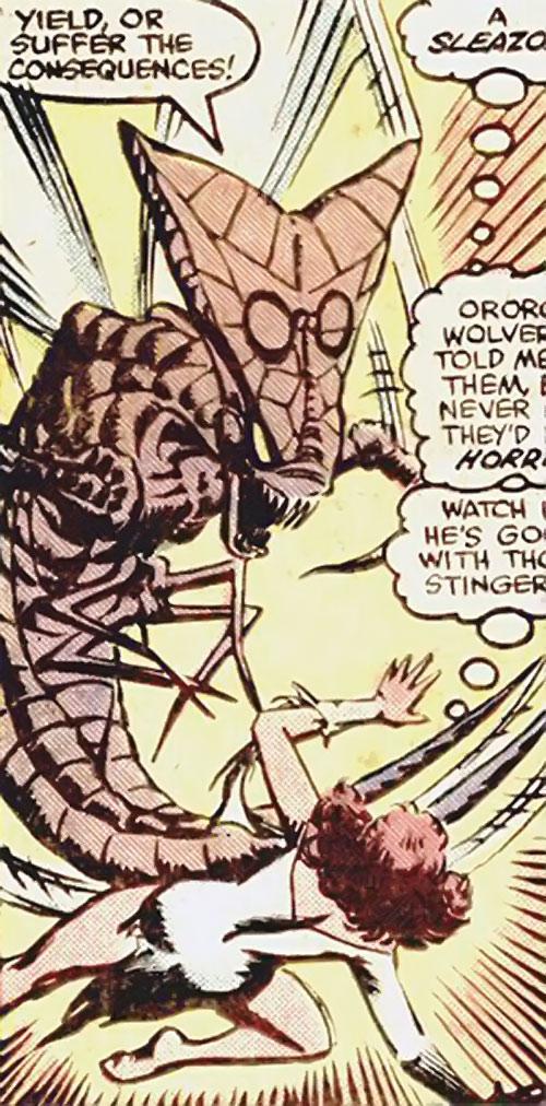 Brood aliens (X-Men enemies) (Marvel Comics) vs. Kitty Pryde