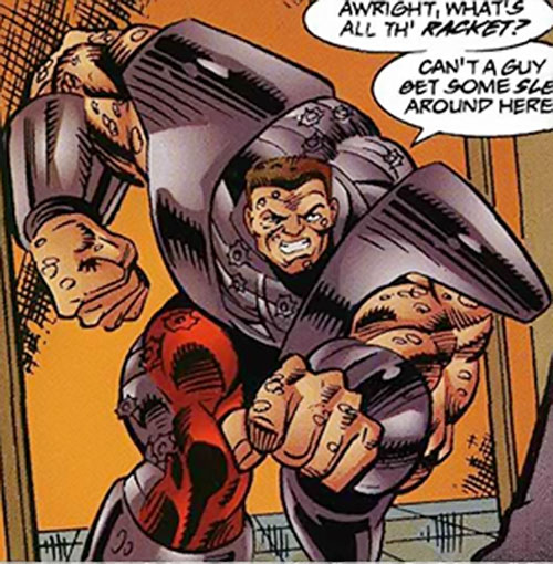 Bruut (Ultraverse Comics) (Exiles enemy) barging in