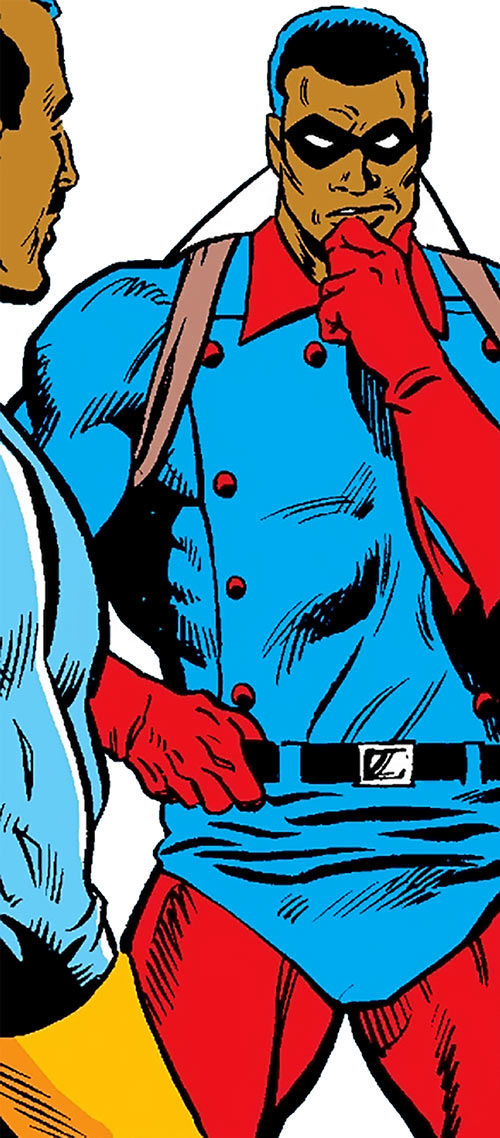 Bucky (Lemar Hoskins) (Captain America character) (Marvel Comics) pondering