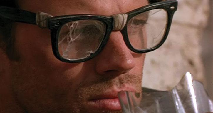 Buddy's ruined glasses