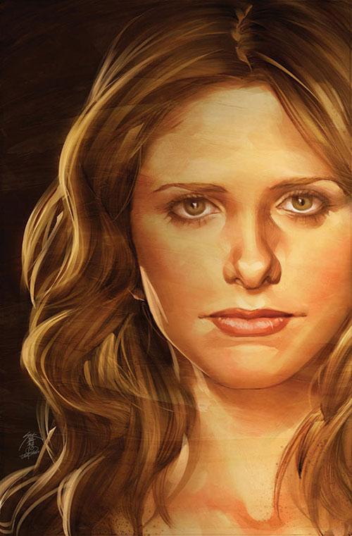 Buffy the Vampire Slayer (Sarah Michelle Gellar) portrait art