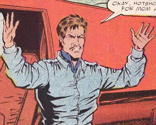 Bullet Biker (Marvel Comics) out of costume