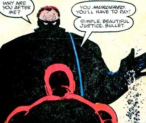 Bullet faces Daredevil