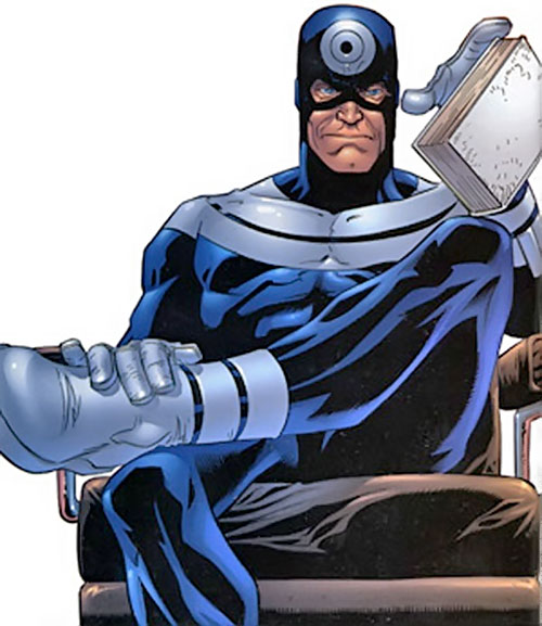 Bullseye (Marvel Comics) (Daredevil enemy) on chair with a book