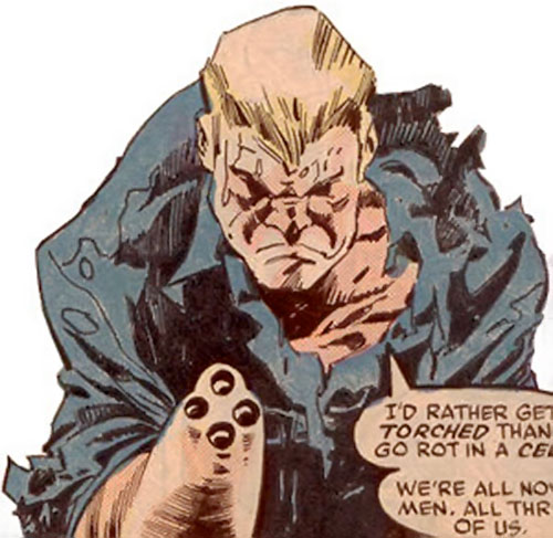 Bushwacker (Marvel Comics) standing wounded