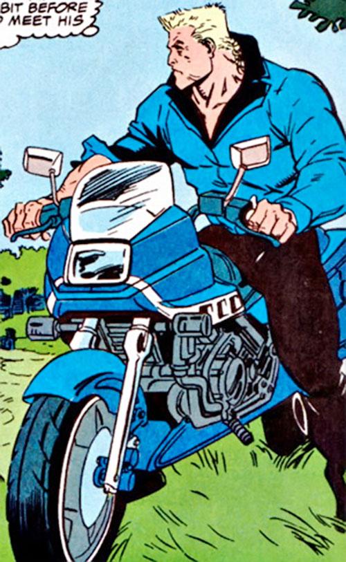 Bushwacker (Marvel Comics) on a motorbike