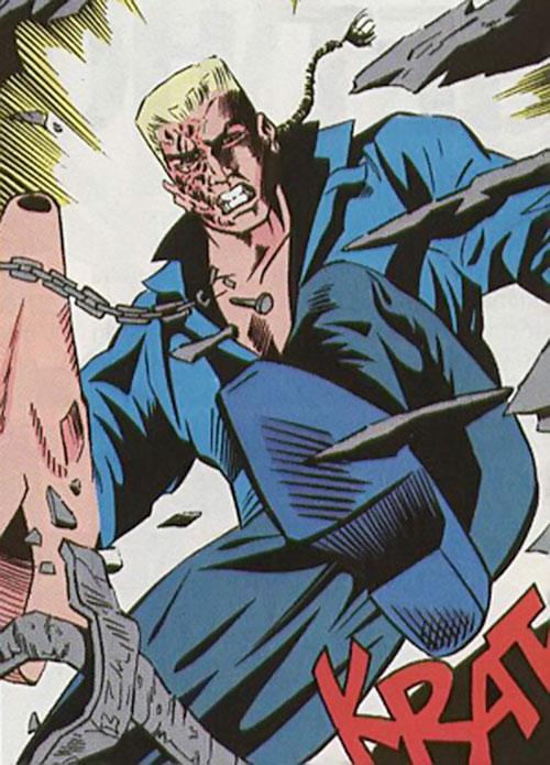 Bushwacker (Marvel Comics) kicking a door open