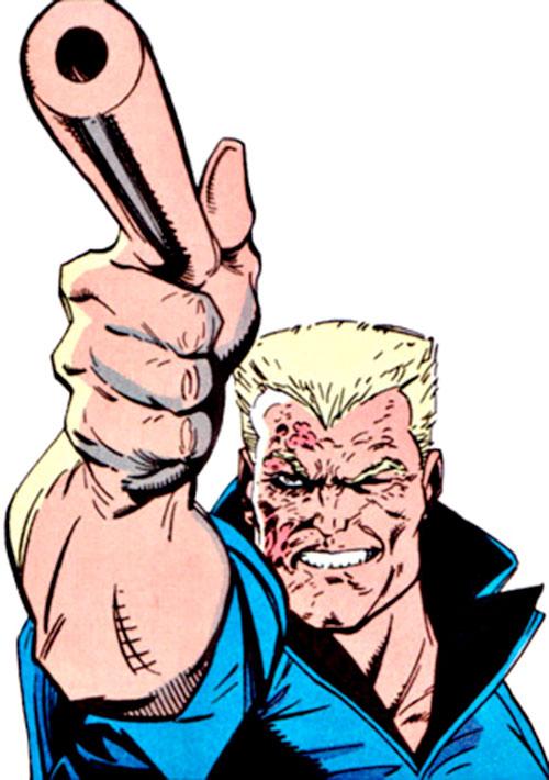 Bushwacker (Marvel Comics) pointing a gun finger