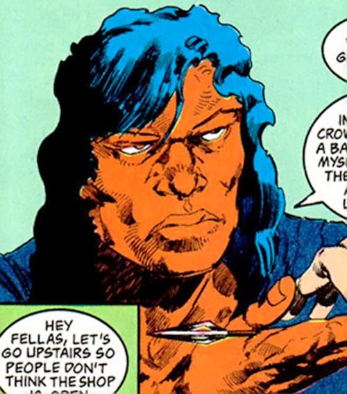 John Butcher (DC Comics) holding an arrow