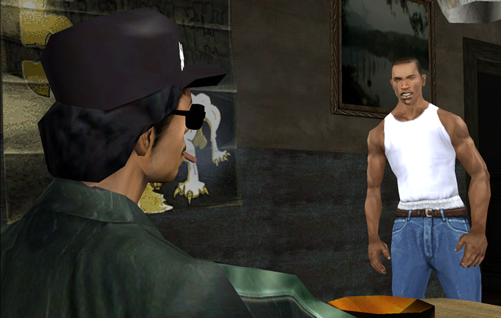 Grand Theft Auto San Andreas - CJ and Ryder early in the game