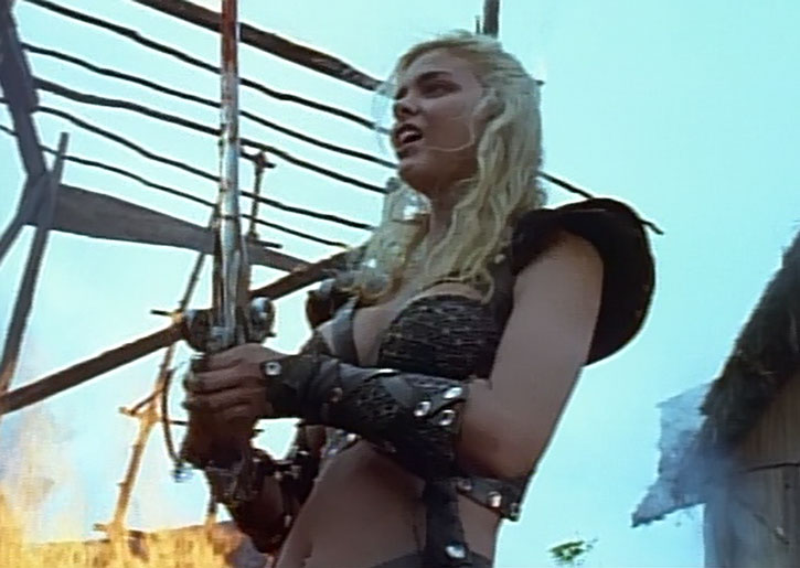 Callisto (Hudson Leick) during a raid