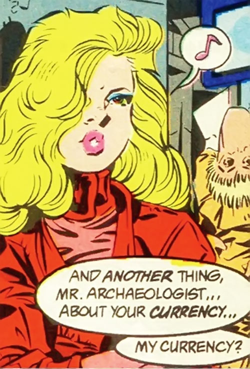 Calorie Queen (DC Comics) (Legion of Super-Heroes 5 year gap) whistling