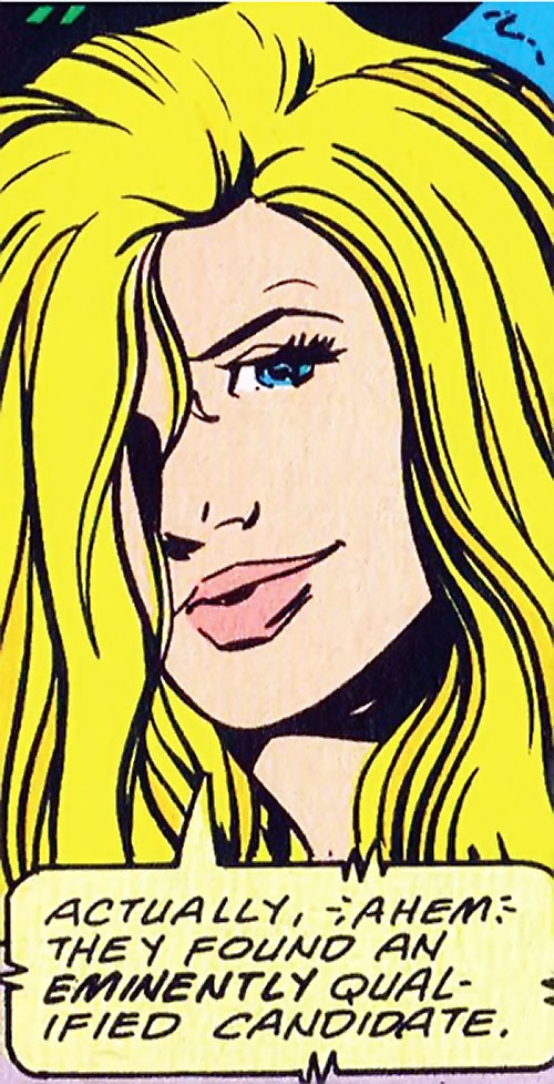 Calorie Queen (DC Comics) (Legion of Super-Heroes 5 year gap) face closeup