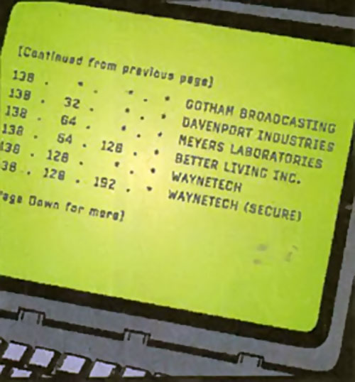 Laptop screen with a traceroute