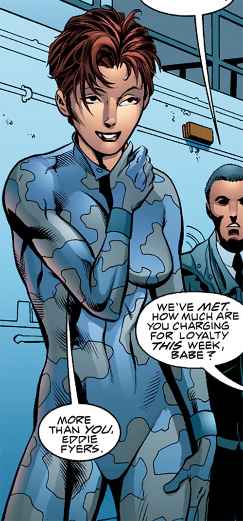 Camorouge (Green Arrow character) (DC Comics) in blue-gray cammo