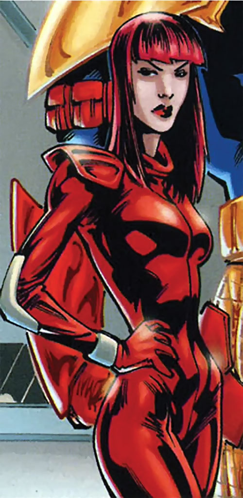 Camorouge (Green Arrow character) (DC Comics) with long red hair