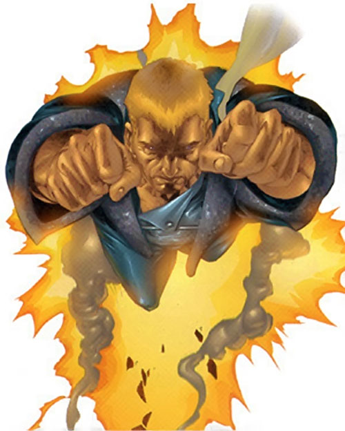 Cannonball of the X-Men (Marvel Comics) blasting