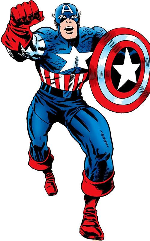 Captain America (Steve Rogers) (Marvel Comics) vintage art