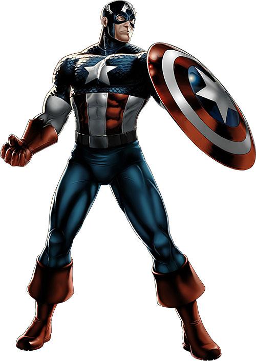 Captain America (Steve Rogers) standing ready