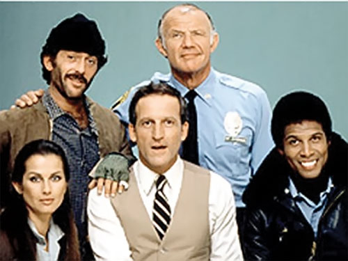 Captain Furillo (Daniel Travanti in Hill Street Blues) with some of his staff