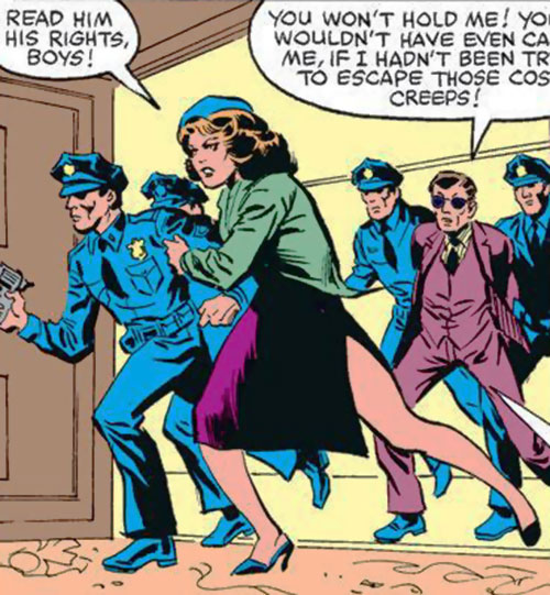 Police Captain Jean Dewolff (Spider-Man characters) (Marvel Comics) and NYPD patrolmen