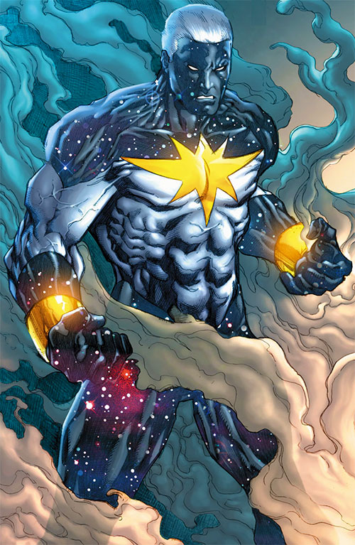 Captain Marvel (Genis Vell) (Marvel Comics) in the black and white costume
