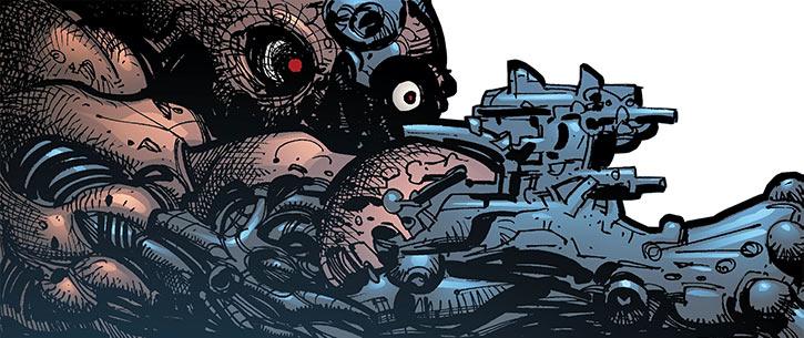 The monstrous cyborg Captain Quinn