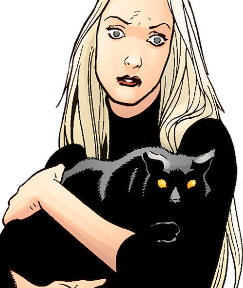 Cassandra Craft (7 Soldiers character) (DC Comics) with her cat