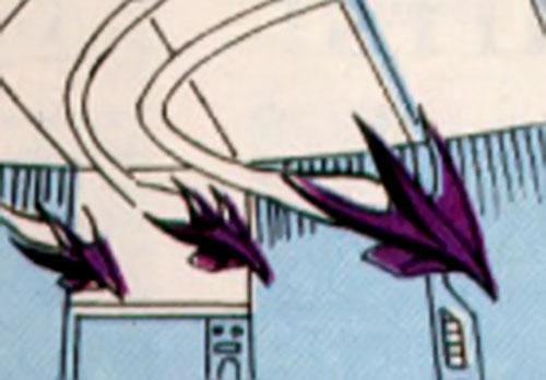 Cathode (Silver Sable enemy) (Marvel Comics) drone mini-planes