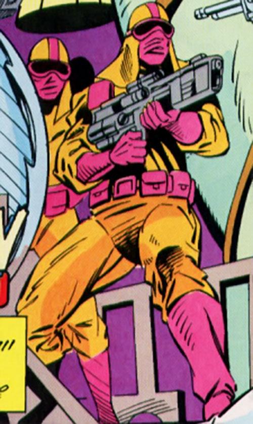 Cathode (Silver Sable enemy) (Marvel Comics) guards