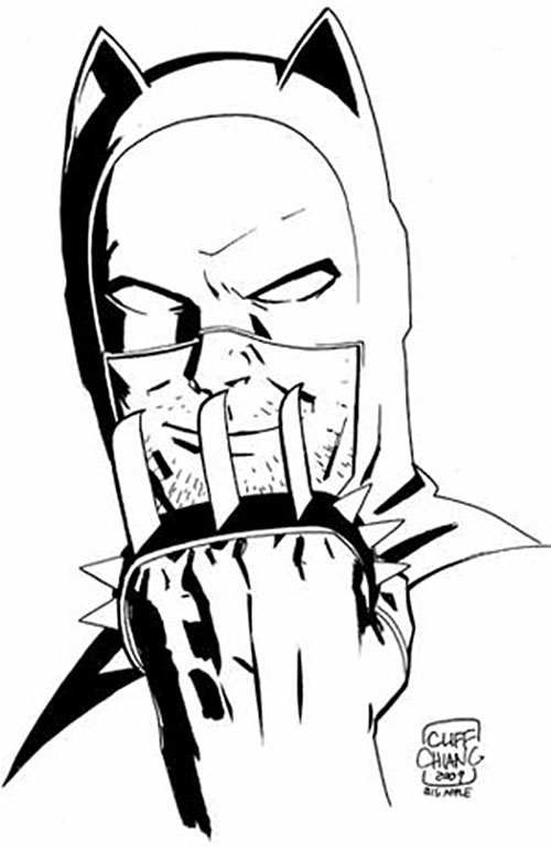 Catman of the Secret 6 (DC Comics) sketch by Cliff Chiang