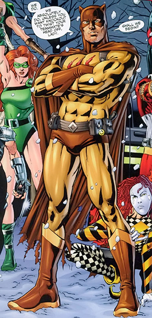 Catman of the Secret 6 (DC Comics) with his team