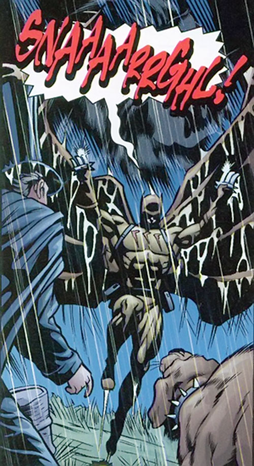 Catman of the Secret 6 (DC Comics) yelling and attacking