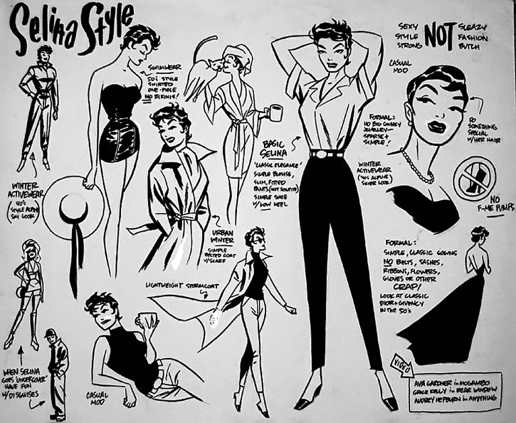 Catwoman (Selina Kyle) style and design sheet