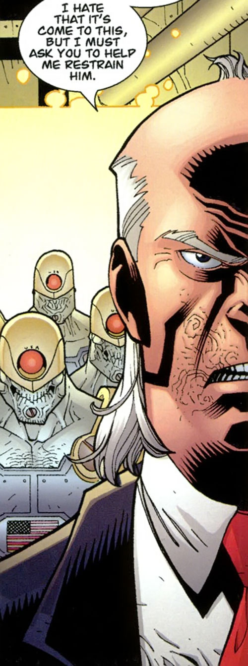 Cecil Stedman (Invincible Comics) and Reanimen