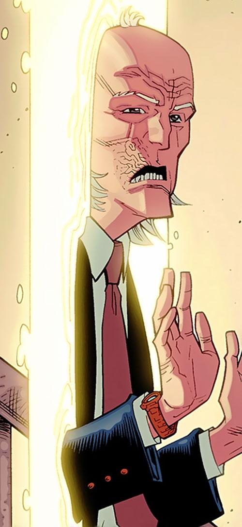 Cecil Stedman (Invincible Comics) emerging from a gate